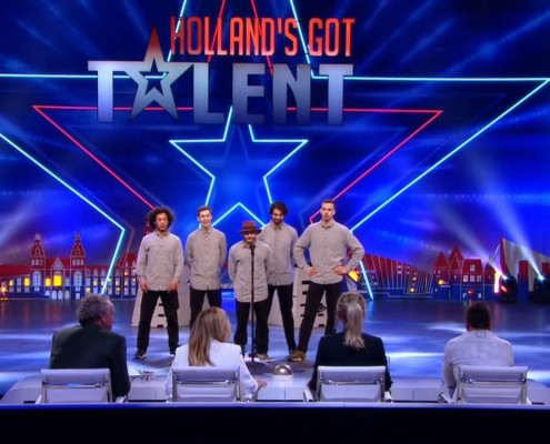 Friends crw Hollands got talent